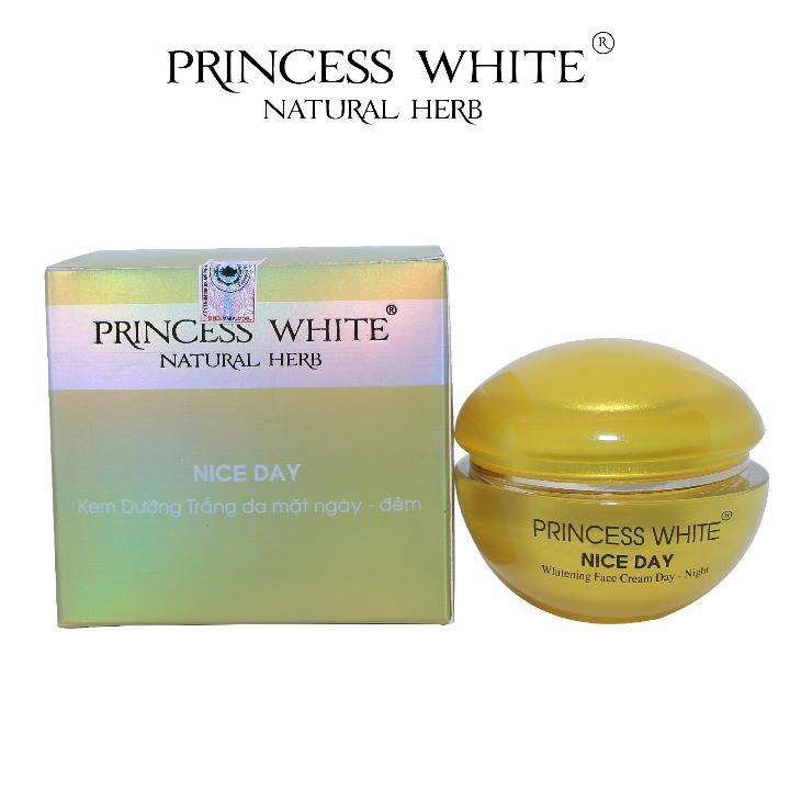KEM DƯỠNG TRẮNG DA MẶT NICE DAY PRINCESS WHITE HỘP 22G tốt nhất