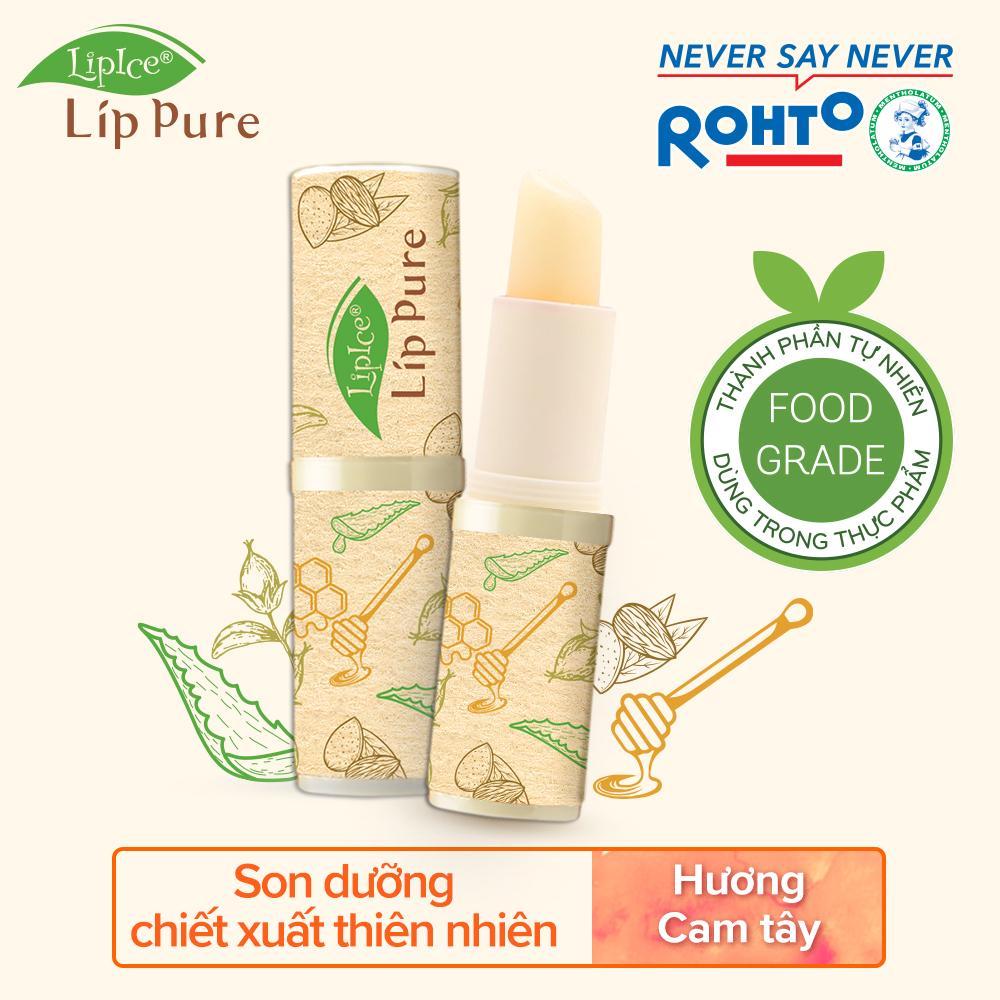 Son dưỡng chiết xuất thiên nhiên Lipice Lip Pure mùi Cam tây 4g