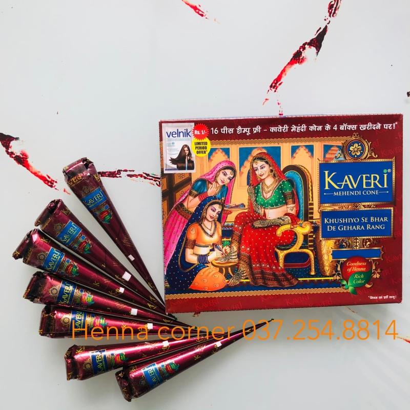 [GIÁ HỦY DIỆT] HENNA KAVERI - MỰC VẼ (MỰC XĂM) Ấn Độ - Màu Nâu truyền thống - Tàn nhang