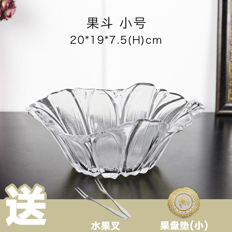 European Style HYUNDAI Luxury Crystal Glass Fruit Plate Candy Water Fruit Bowl Set Creative Living Room Teapoy Table Decorations And Ornaments