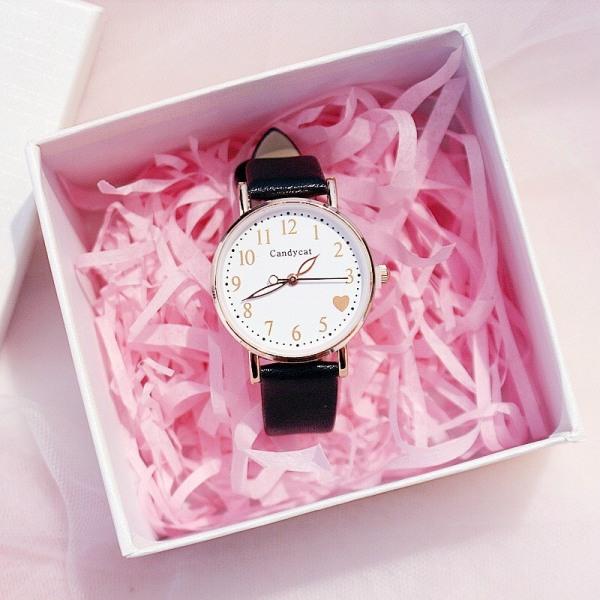 Đồng hồ thời trang nữ Candycat Ct4 trái tim 4 mặt tròn dây da cực hot gcrc