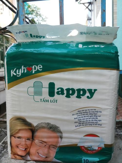 Tấm lót tã Kyhope Happy Size M/L 10 Miếng