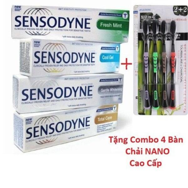 COMBO 6 Tuýt Kem đánh răng chống ê buốt thái lan tặng kèm 4 bàn chải NANO cao cấp giá rẻ