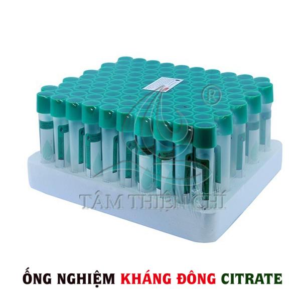 Ống nghiệm kháng đông máu CITRATE HTM túi 10 cái cao cấp