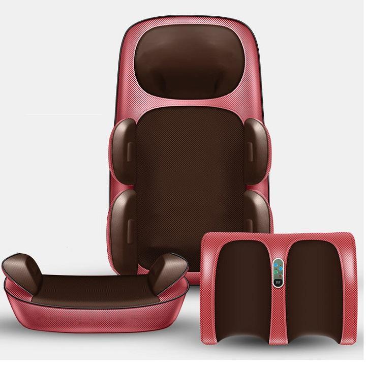 Đệm ghế massage toàn thân, đệm massage gấp gọn, massage vai cổ, massage lưng, chân GD139