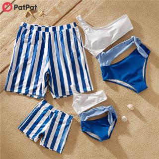 PatPat Khối Màu Sắc Gia Đình Phù Hợp Với Đồ Bơi, Đồ Bơi Cho Trẻ Em Và Người Lớn-Z