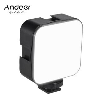 Andoer Đèn LED Video Mini Đèn Bổ Sung Nhiếp Ảnh 5W Có Thể Điều Chỉnh Độ Sáng 6500K Với Bộ Chuyển Đổi Gắn Ngàm Lạnh Cho Máy Ảnh DSLR Canon Nikon Sony thumbnail