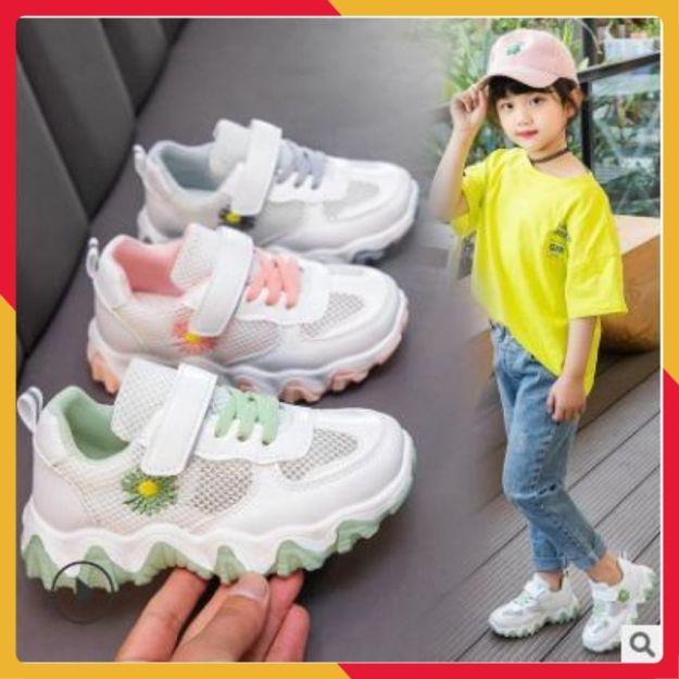 Giày Sneaker Bé Gái Thời Trang Thuê Hoa Cúc giá rẻ