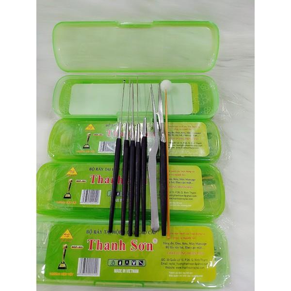 Bộ dụng cụ lấy ráy tai chuyên nghiệp (hộp nhựa 8 món)