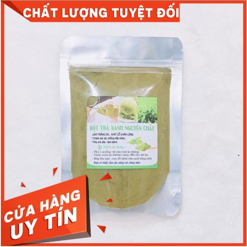 Bột trà xanh đắp mặt nguyên chất -T.r.i Mụn trắng da (50G~100G) nhập khẩu