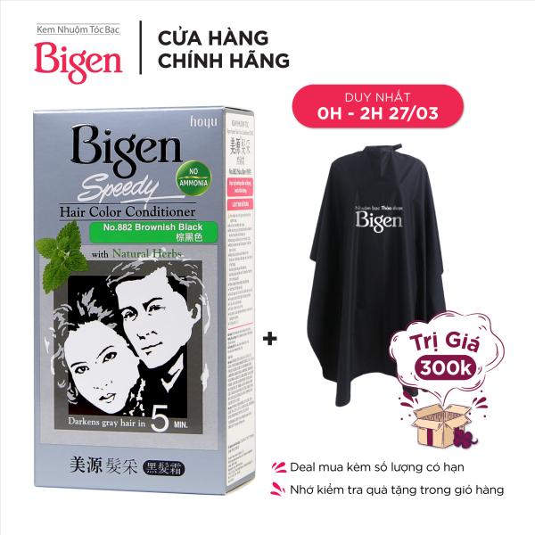 Thuốc nhuộm tóc phủ bạc dạng kem Bigen Speedy Hair Color Conditioner 80ml