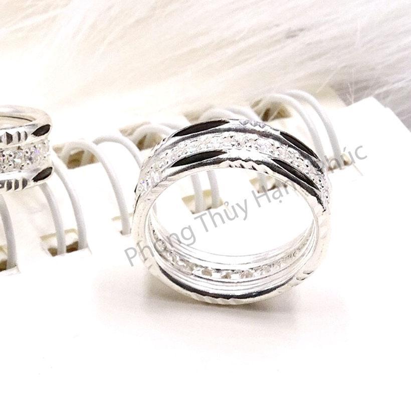 Nhẫn Bạc Nữ Lux (#n96)  - Tinh Xảo - Kiểu Dáng Model - Quý Phái - Sang Trọng - Tặng Kèm Khăn Lau Bạc Chuyên Dụng