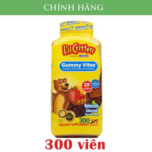 Kẹo dẻo bổ sung nhiều loại Vitamin cho trẻ biếng ăn L'il Critters Gummy Vites 300 viên - hàng nhập Mỹ