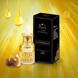 Bộ Combo Serum Ốc Sên XBeauty Gold Snail Ampoule 25ml Hàn Quốc + XBeauty Perfume E-Voucher trị giá 350.000đ. Serum Ốc Sên Gold Perfect skin care chăm sóc da hoàn hảo XBeauty Gold Snail Ampoule 25ml thumbnail