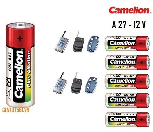 Giá Vỉ 5 viên pin 12V A27 điều khiển cửa cuốn Camelion BT77