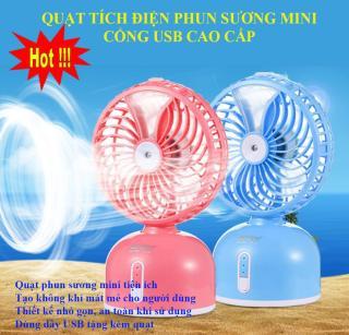 Nơi bán Quạt Phun Sương Mini giá rẻ, Quạt phun sương cao cấp, thổi bay cơn nóng mùa hè, thiết kế thông minh, tiện dụng, SALE Llớn 50%, BH uy tín bởi Good 365, Mẫu SP. thumbnail