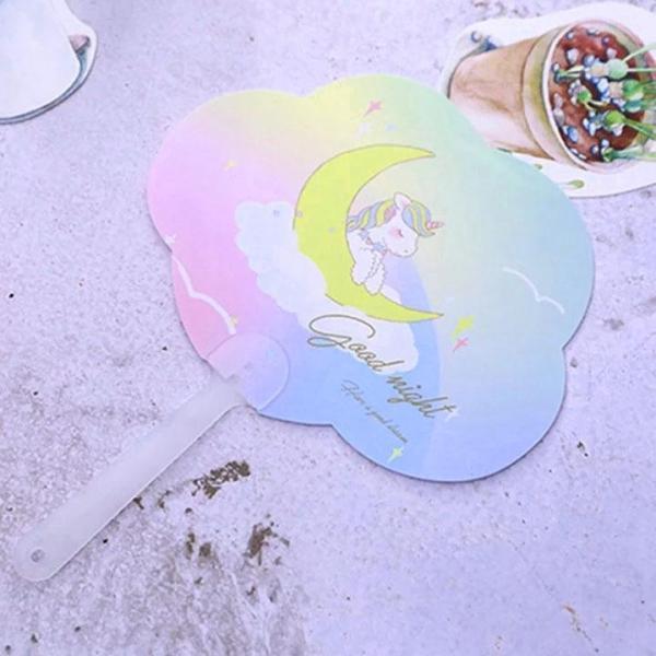 Quạt nhựa cầm tay hình mây ngộ nghĩnh hình Unicorn xinh xắn BBShine – F006