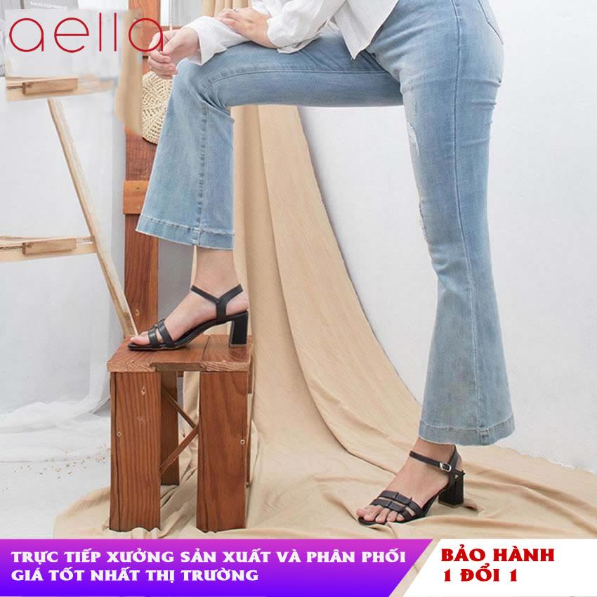 Giày cao gót nữ gót vuông 5cm AELLA AE201 - Dáng công...