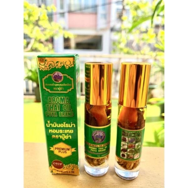 Dầu gió 29 vị thảo dược Thái Lan 8cc Aroma Thai Oil Puya Brand giá rẻ
