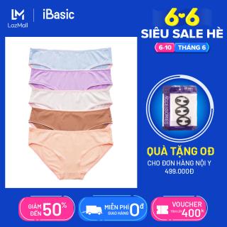 Combo 5 quần lót nữ thun lạnh co giãn 4 chiều thoải mái thấm hút tốt iBasic V199-3 thumbnail
