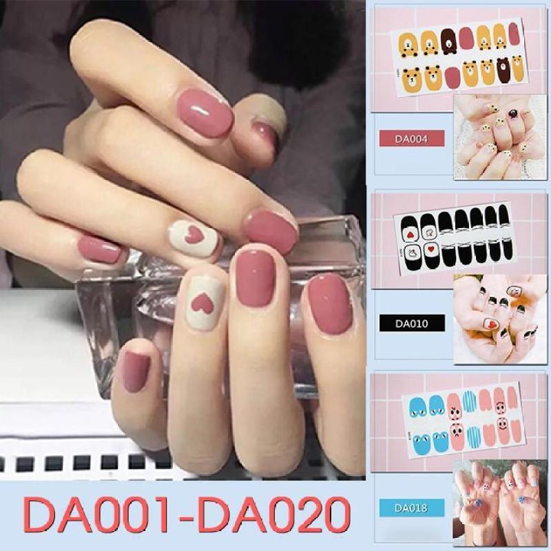 Bộ dán móng tay nail sticker gồm 14 móng mã DA01 - DA020