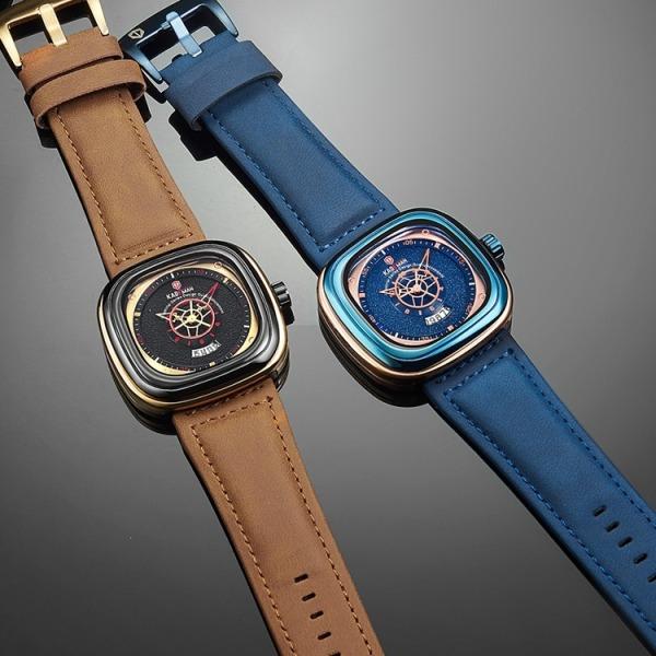 [BẢO HÀNH 1 NĂM] [TẶNG HỘP VÀ PIN]+[NHẪN] Đồng hồ NAM dây da KADEMAN 9030 TREND 2020 đồng hồ kim thời trang cho phái mạnh bán chạy