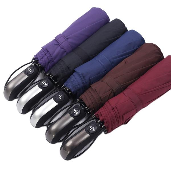 Ô Dù 10 Nan Size Lớn Đóng Mở Tự Động Bằng Nút Bấm Chống Tia UV Minchan(Chọn Màu) - Vải Dù Cao Cấp Hàng Xuất Nhật