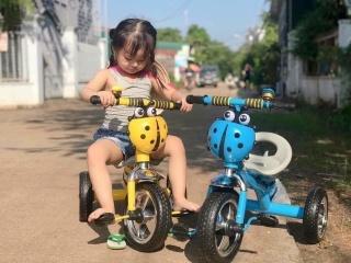 Xe đạp trẻ em, xe đạp 3 bánh con bọ có bình nước dành cho bé từ khoảng 2 đến 5 tuổi thumbnail