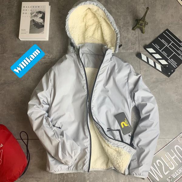 Áo khoác nhẹ nam lót lông Uni siêu ấm, chống nước nhẹ hàng VNXK  - Tặng túi đựng tiện dụng - WS63