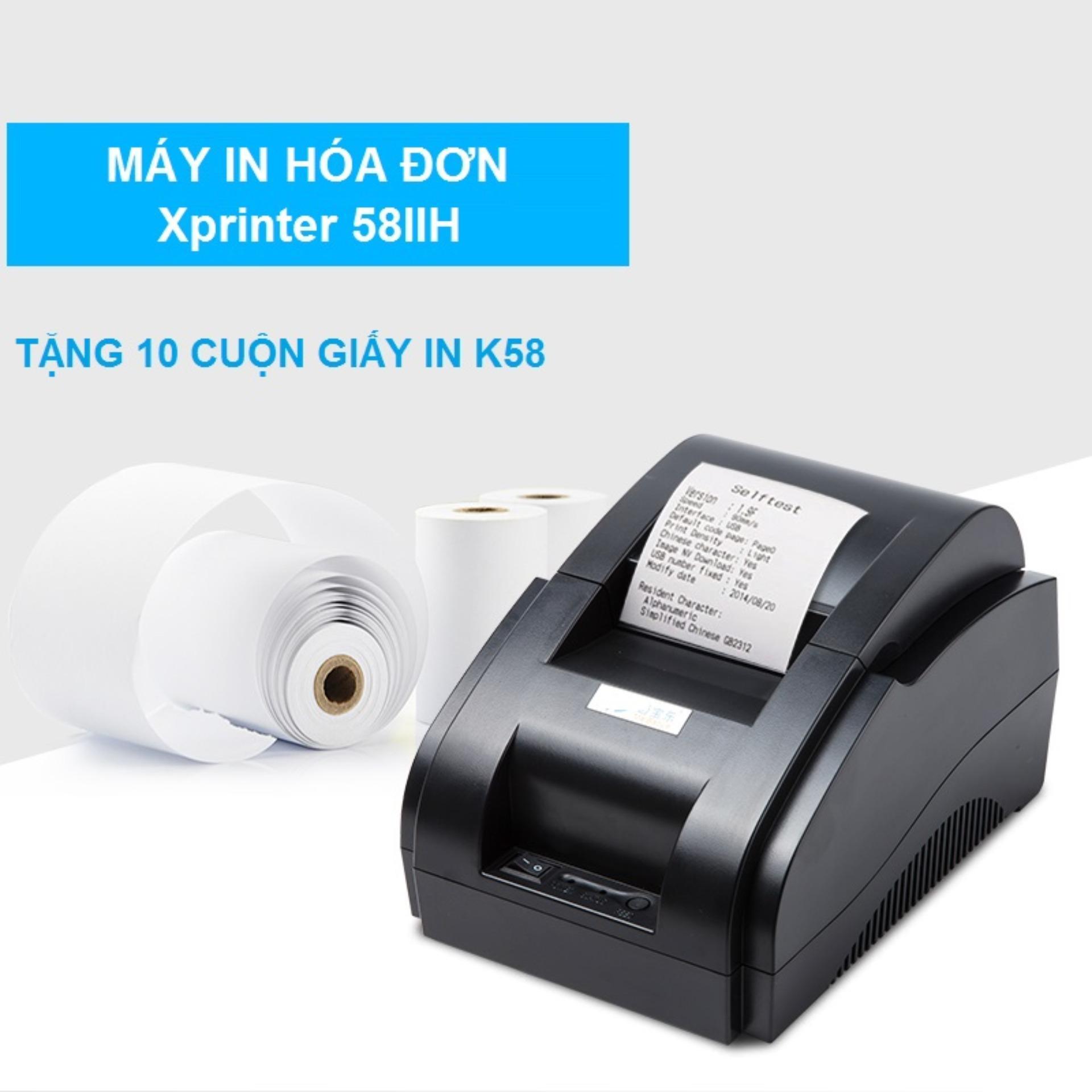 Máy In Hóa Đơn Xprinter 58iih Khổ Giấy K58 Free 10 Cuộn Giấy In By Sieuthihangcongnghe.
