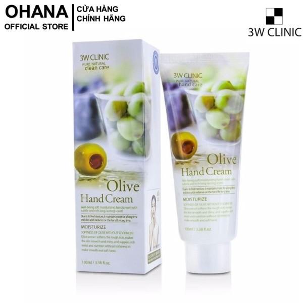 Kem Dưỡng Da Tay 3W Clinic Olive Hand Cream 100ml