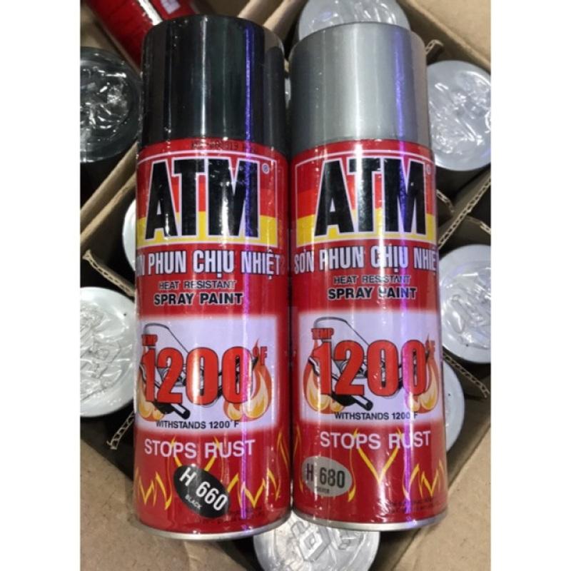Sơn xịt ATM chịu nhiệt chống cháy Spray 1200*C đa năng xịt trên mọi chất liệu