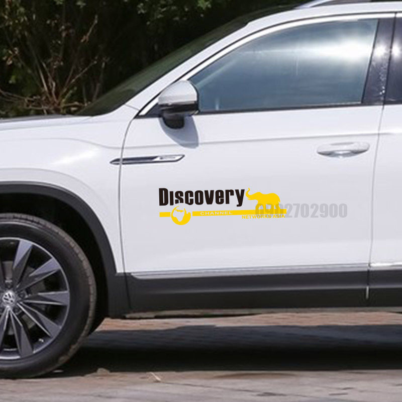 Bộ 2 tem decal DISCOVERY NETWORK ASIA
