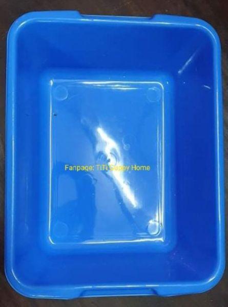 Khay nuôi cá hình chữ nhật xanh