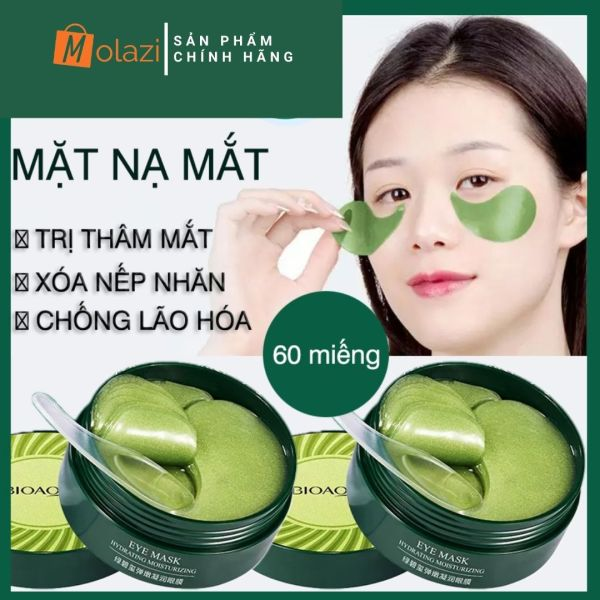 [Bản 2021] Mặt nạ mắt Bioaqua, dưỡng da vùng mắt, đánh tan quầng thâm, tinh chất collagen làm trẻ hoá da, giảm bọng mắt hiệu quả, 60 miếng Molazi