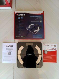 cân điện tử lock&lock,cân xách tay 50kg,cân sức khỏe cơ học - Có Bluetooth Phiên Bản 2021 - Cân sức khỏe phân tích chỉ số cơ thể Rapido RSB02-S thumbnail