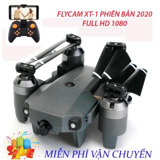 Flycam, Flycam giá rẻ, Flycam điều khiển Giá Rẻ Flycam XT-1, Hiện Đại 4 Cánh Dễ Dàng Gấp Gọn,Camera 8.0 MP, Wifi 720P, Động cơ mạnh mẽ camera chống rung quang học, Truyền Hình Ảnh Về Điện Thoại Thiết Kế Cánh Gập Phiên Bản 2020 sale 50% thumbnail
