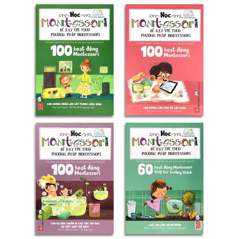 Sách - Học Montessori để dạy trẻ theo phương pháp Montessori (bộ 4 cuốn, lẻ tùy chọn)(5. bộ 4 cuốn)