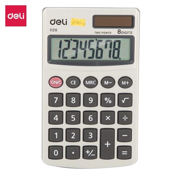 Mua Máy tính kỹ thuật 8 số Deli - Ghi đậm - E1120