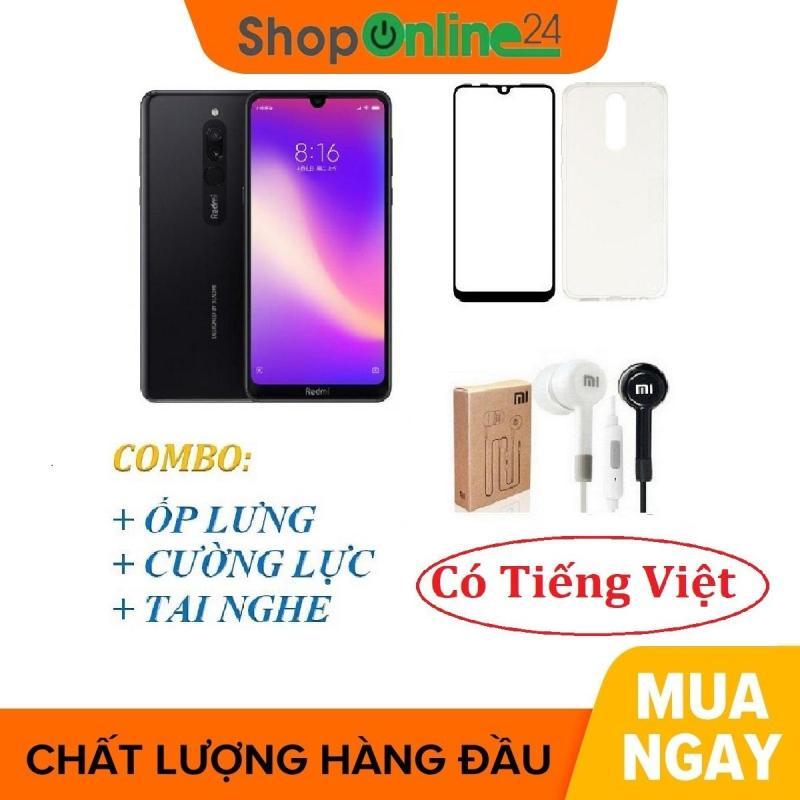 Xiaomi Redmi 8 32GB Ram 3GB  + Ốp lưng + Cường lực + Tai nghe - Shop Online 24 - Hàng Chính Hãng