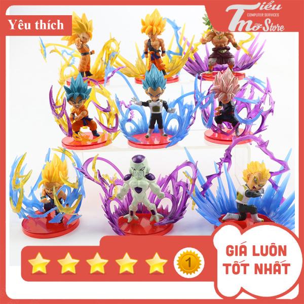 Mô hình 9 mẫu Dragon Ball SonGoku, Vegeta, Broly, Gohan, Fizer - Bảy viên ngọc rồng