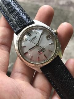 Đồng hồ nam Citizen cơ Automatic, 2 lịch, niềng khía thumbnail