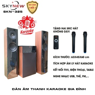Dàn karaoke gia đình - Dàn âm thanh khủng kết nối Tivi , iphone, ipad, smartphone Hát karaoke - loa vi tính cỡ lớn âm thanh Hifi siêu Bass có kết nối Bluetooth nghe nhạc USB thẻ nhớ Isky - SK325 (Tặng kèm Micro KHÔNG dây) - INZEC thumbnail