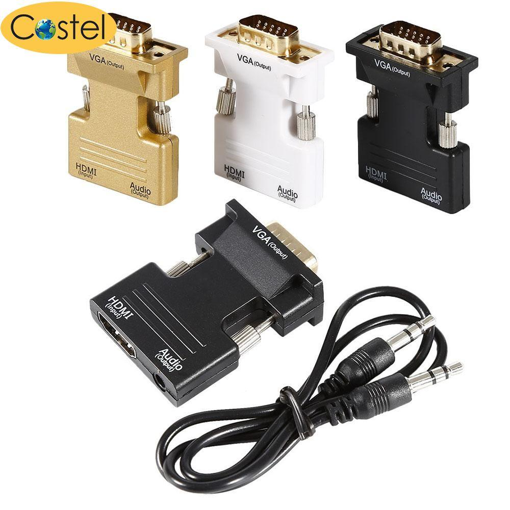 Costel HDMI Female To VGA Male Converter Adapter Audio Adapter For HDTV - intl