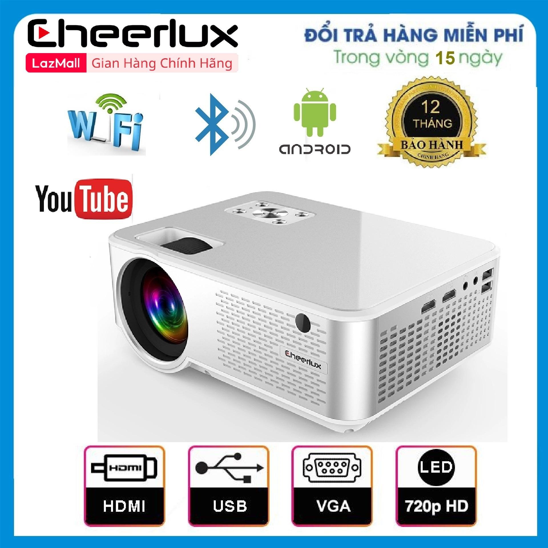 Giá Quá Tốt Để Có Máy Chiếu Mini Cheerlux C9 HD 1280x720, HĐH Android Tivi Box 6.0, Kết Nối WIFI, Loa Bluetooth, độ Sáng 2800 Lumens, Thay Thế Tivi Giá Rẻ 100 Inch Cực Nét.