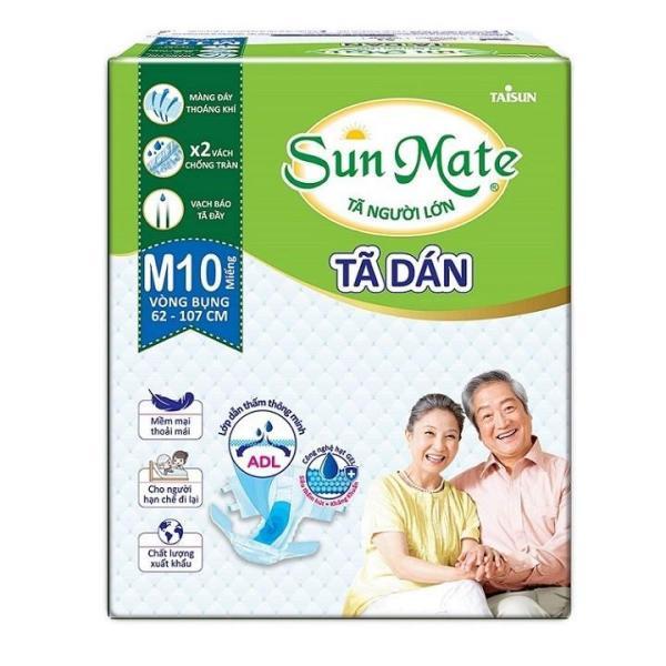Combo 2 gói tã dán sunmate size M10 - tã dán người lớn Sunmate