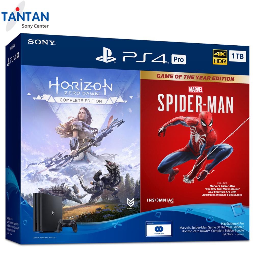 [ HÀNG CHÍNH HÃNG ] PS4-PRO 1TB OM 2 BUNDLE CUH-7218B B01 | Máy chơi game PlayStation 4 Pro bộ nhớ 1TB - 1 tay cầm DS4 - 2 đĩa game: Spider-Man: Game of The Year Edition, Horizon Zero Dawn | BẢO HÀNH 12 THÁNG TOÀN QUỐC