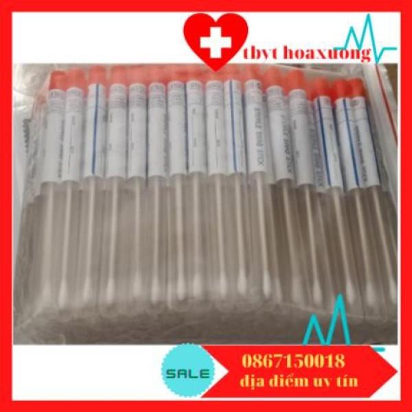 Que tăm bông vô trùng lấy dịch xét nghiệm-tăm bông ( gói 100 cái)