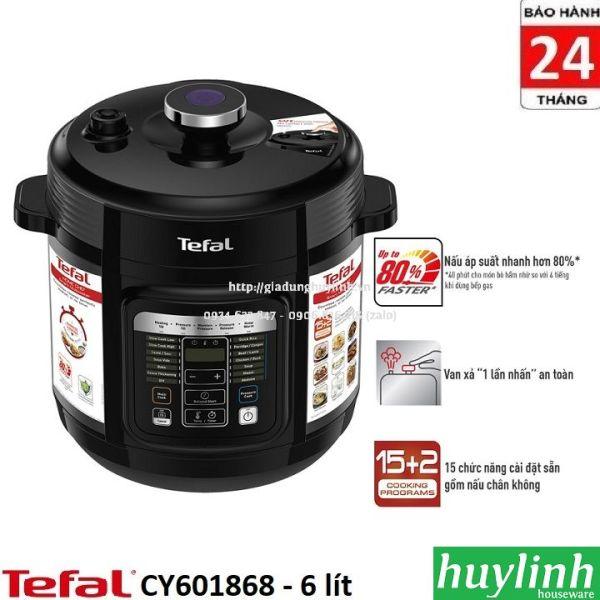 Nồi áp suất điện tử Tefal CY601868 - 6 lít - 1000W