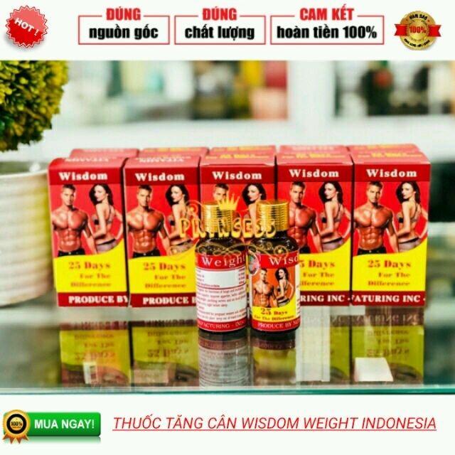 Tăng cân Wisdom Weight VItamin tăng cân -Gmp Indonesia chính hãng